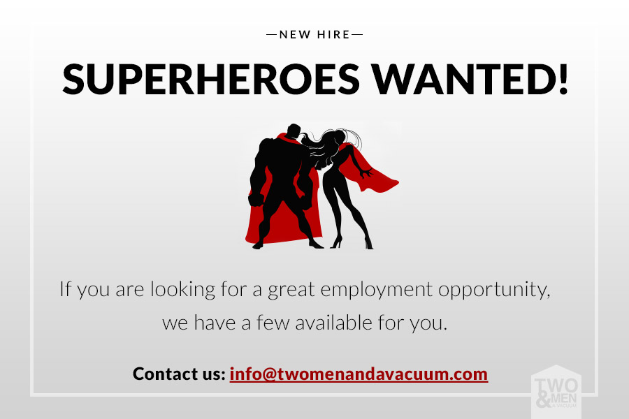 Two Men & A Vacuum Are Looking For A New Hire!